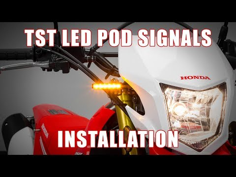 How to install TST LED Pod Turn Signals on a 2012+ Honda CRF250L by TST Industries