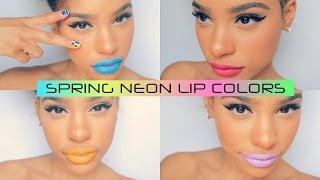 Bright Spring Lip Colors : With Swatches