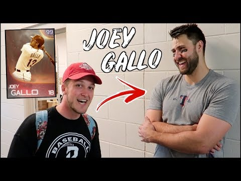 I MET JOEY GALLO AND ASKED IF HE PLAYS MLB THE SHOW!