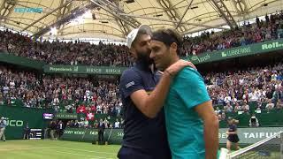 Federer Escapes Paire; Coric Beats Basilashvili    Halle 2018 Highlights Day 4