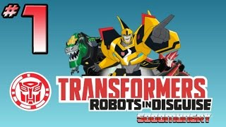 Transformers: Robots In Disguise Video Game - PART 1 - Bumblebee & Sideswipe In Action!