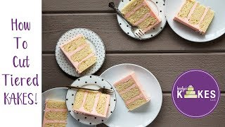 How to Cut Tiered Cakes | Karolyn's Kakes