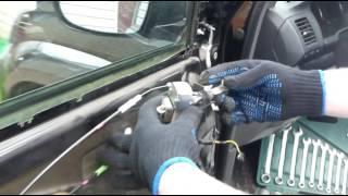Как снять фидера на двери прадо 120