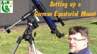 Setting Up a German Equatorial Mount