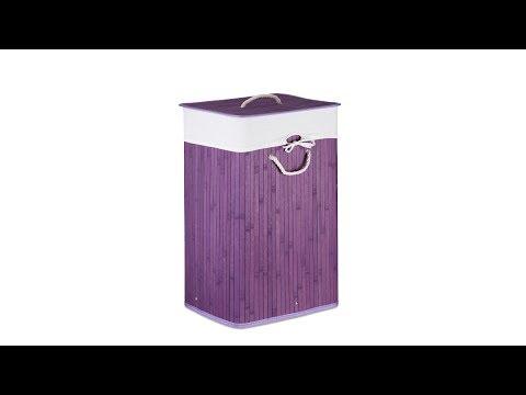 Wäschekorb Bambus Violett