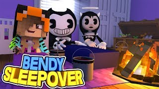 BENDY'S SLEEPOVER WITH BABY ARIANA AND ALICE ANGEL!! w/Little Carly (Minecraft Custom Roleplay)