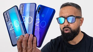 Honor 20 Pro Unboxing vs Honor 20 vs Honor 20 Lite