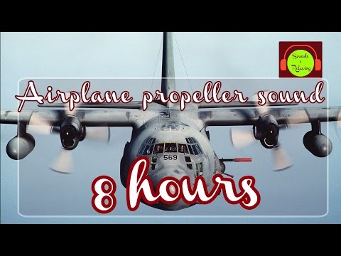 Airplane propellers sound  for relaxing and sleeping - white noise - 8 hours