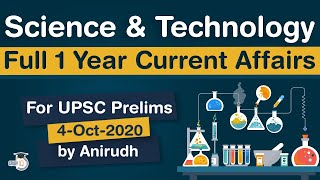 Complete One Year Science and Technology Current Affairs for UPSC Prelims 2020 - in Hindi #UPSC #IAS