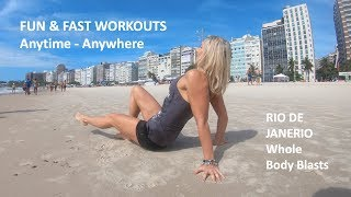 Mini workouts you can do anywhere... even Rio!