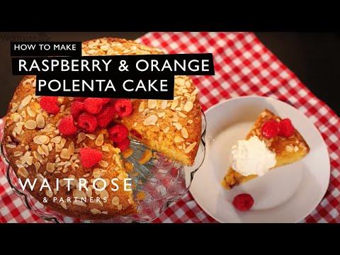 Raspberry and Orange Polenta Cake | Waitrose