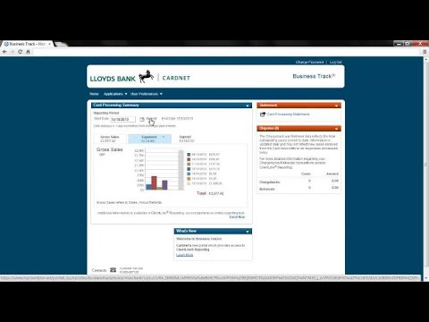 Payment Reporting Merchant Services Lloyds Bank Cardnet