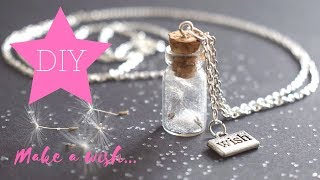 DIY - How To Make Dandelion Wish Bottle Charm Neklace - GIVEAWAY!! (ended)