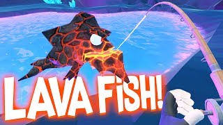 Catching Legendary Lava Fish In The Secret Underground Cave!   Crazy Fishing HTC Vive VR