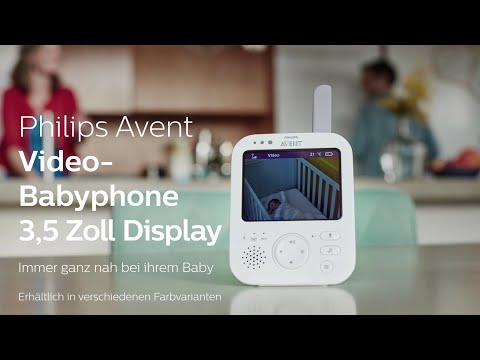 Philips AVENT Écoute-bébé vidéo numérique SCD843/26 (Vidéo et audio, 300m)
