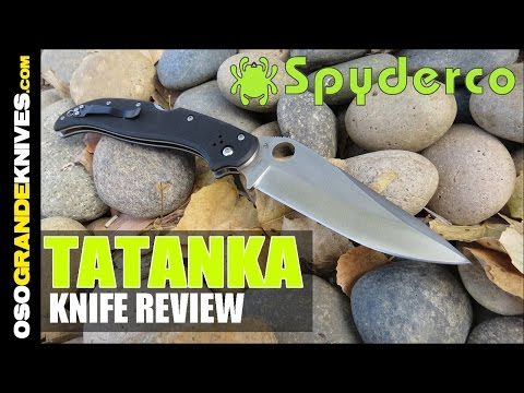 Spyderco Tatanka C180GP Folding Knife Review (Biggest Spyerco Folder Ever!) | OsoGrandeKnives