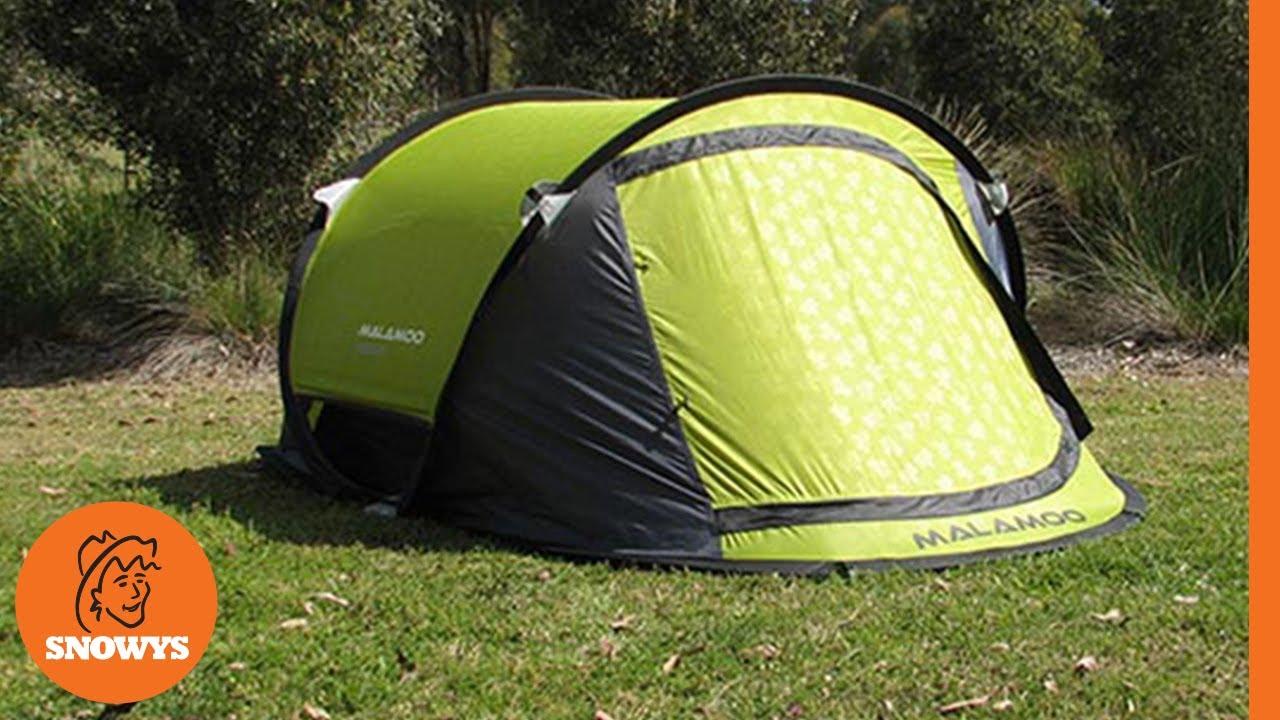 Malamoo X-Tra 3P Pop Up Tent - Green