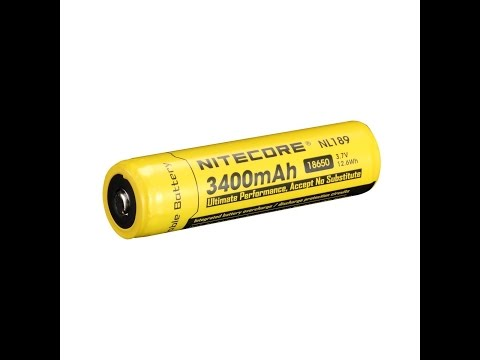 Nitecore NL189 Protected 18650B 3400mAh Battery Thorough Review And Test Good Performance Poor Build