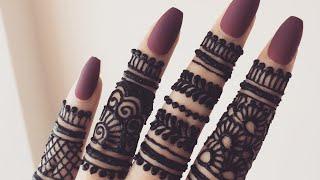 Beautiful Stylish Finger Mehndi Henna Design For Hands Eid Weddings 2019