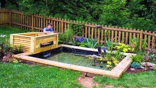 DIY Backyard Garden Pond