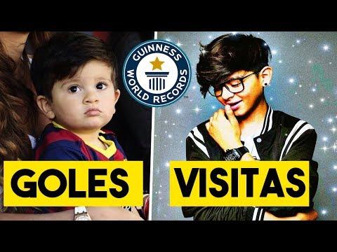 5 NIÑOS que han batido RECORDS GUINESS | Max Valenzuela, Thiago Messi