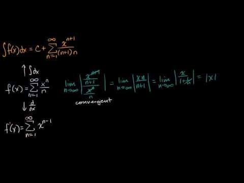 Interval of convergence for derivative and integral (video