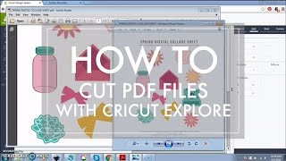 How to Cut a PDF File with Cricut Explore