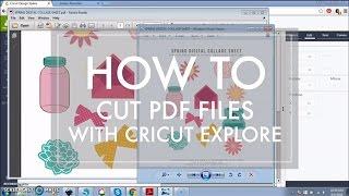 How to Cut a PDF File with Cricut Explore