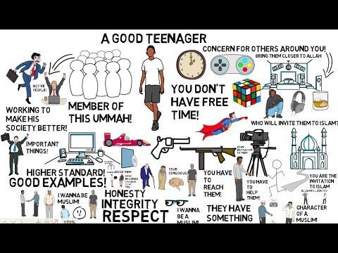 HOW TO BE A GOOD TEENAGER - Nouman Ali Khan Animated