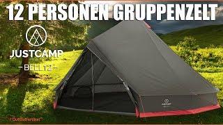 Justcamp Bell 12 - 12 Personen Gruppenzelt - Tipi Zelt Camping, Urlaub