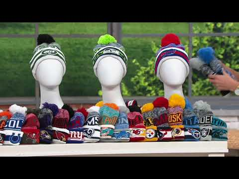 NFL Cuff Knit Hat with Pom by New Era on QVC