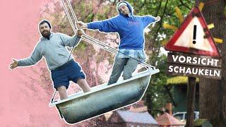 DIY Swing | Bathtub, Skateboard and Tube