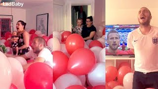When dad fills the house with balloons for the World Cup! 🦁🦁🦁