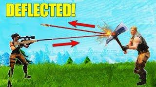 Deflecting A Sniper Bullet! [Fortnite]