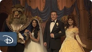 'Beauty & The Beast' Inspired Wedding At Walt Disney World