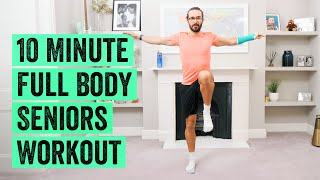 10 Minute Full Body Seniors Workout | The Body Coach TV