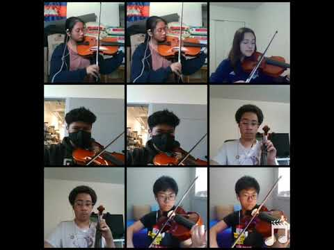 My Advanced Orchestra performing during remote learning.