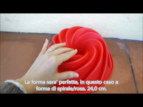 Stampo formina in silicone per torte a forma di spirale rosa per forno o freezer HelpCuisine
