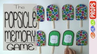 THE POPSICLE MEMORY GAME_Game Ideas From Popsicle/craft Sticks   Edu Props