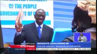 Tension in Kampala after Ugandan opposition leader Kizza Besigye swore himself in as the president