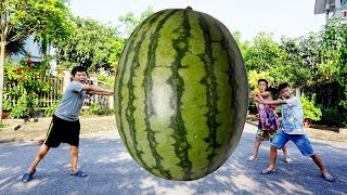 Kids go to School | Hacona Use Magic Big Watermelon Giant Pear Song for Childrens