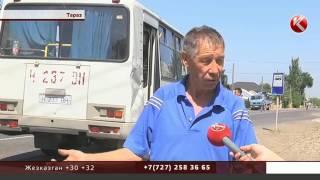 ДТП в Таразе: столкнулись пассажирский автобус и КамАЗ