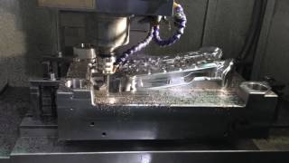High Speed CNC is Cutting the Core Plate of One Mould