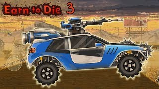 Новая крутая стрелялка про зомби Earn To Die 3 машинки игры гонки для детей