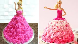 Top 3 Barbie Doll Cake Decorating Ideas For Birthday Baby Girls | Easy Princess Cake Decorating #1