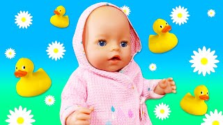Spielspaß mit der Baby Born Puppe - Ein Kamillenbad für Annabelle