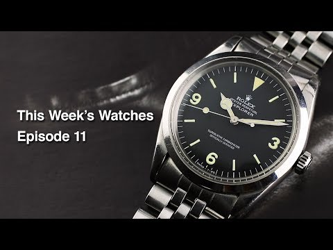 This Week's Watches #11 – Cartier Tank 'Jumbo', Rolex Explorer 1016, Rolex Day-Date 1807 And More…
