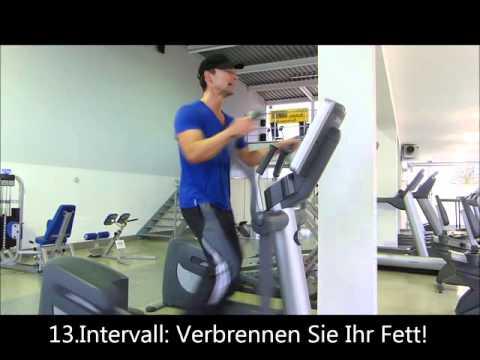 10 Minuten Fettverbrennung - Crosstrainer-Workout. Bis zu 5 Kilo weniger im ersten Monat...