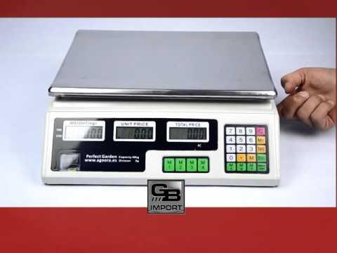 Balanza electrónica comercial hasta 40 kg