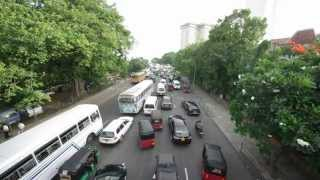 preview picture of video 'Verkehrschaos in Colombo // Traffic chaos in Colombo (Sri Lanka)'